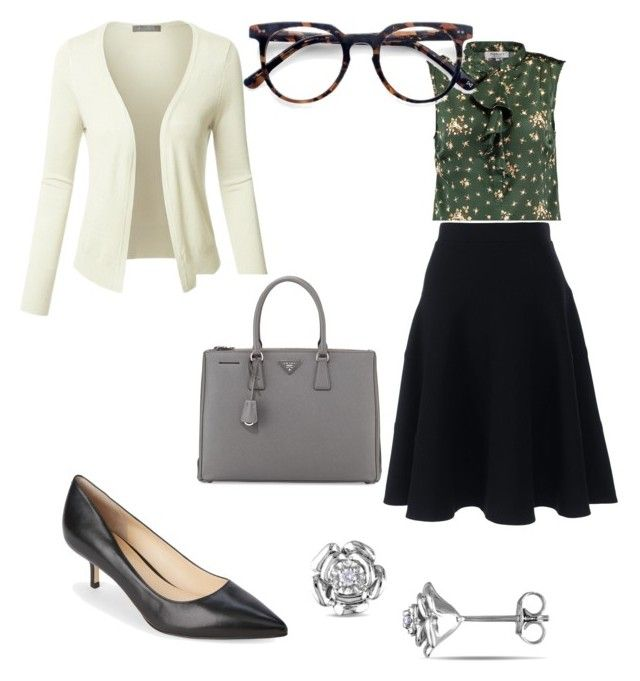 GA by kyolaw on Polyvore featuring polyvore fashion style LE3NO Lands' End Ivanka Trump Prada Ace clothing