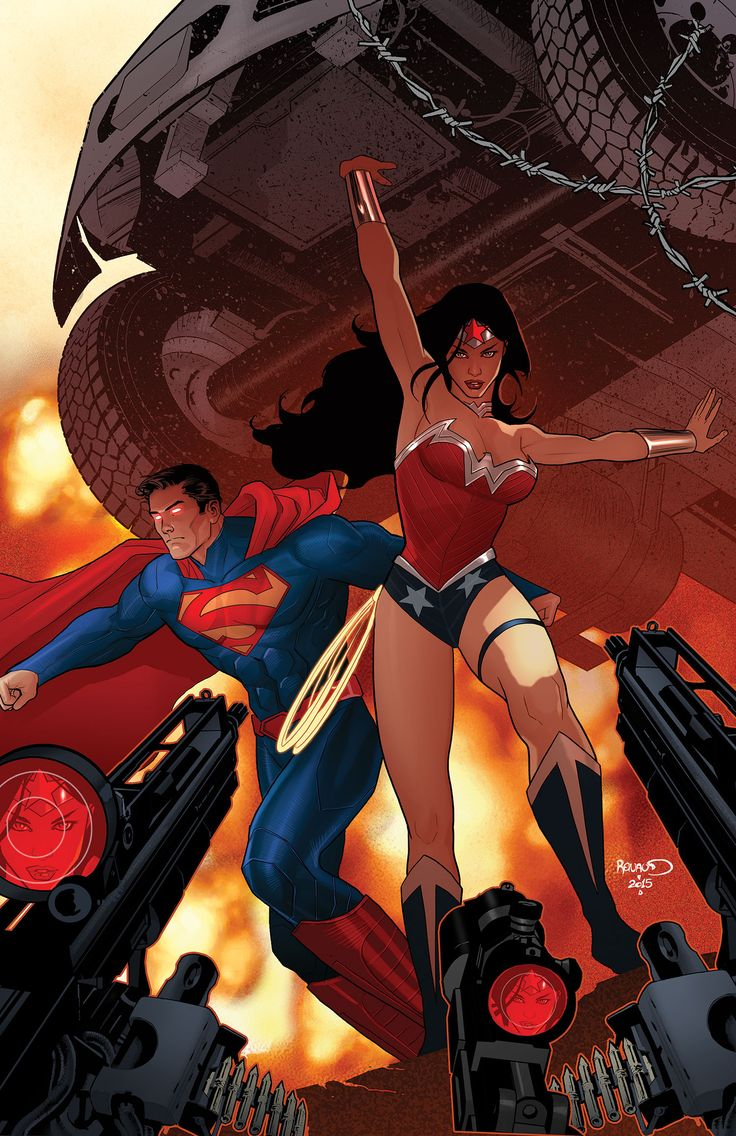"""Superman/Wonder Woman. DC The Final Days of Superman, Part 4. """"Last Kiss"""" Vol.1 #28 Cover) By: Paul Renaud."""