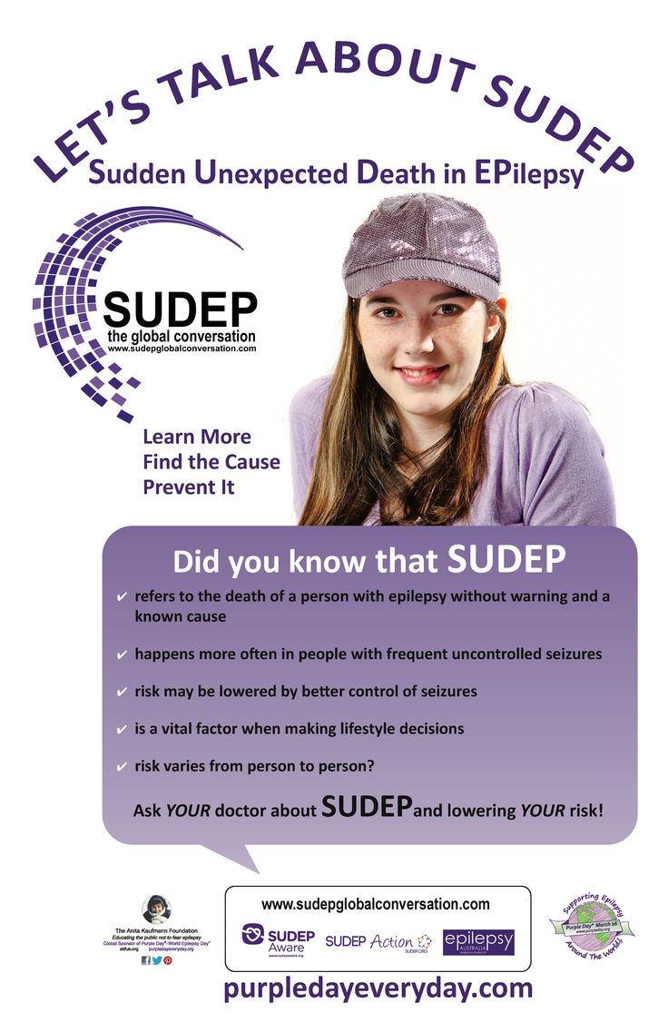 New Purple Day SUDEP poster