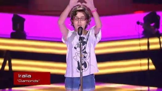 """""""The Voice Kids"""" : le décès d'une petite candidate de 11 ans émeut l'Espagne. Iraila interpretando """"Diamonds"""" en las audiciones a ciegas de La Voz Kids España..."""