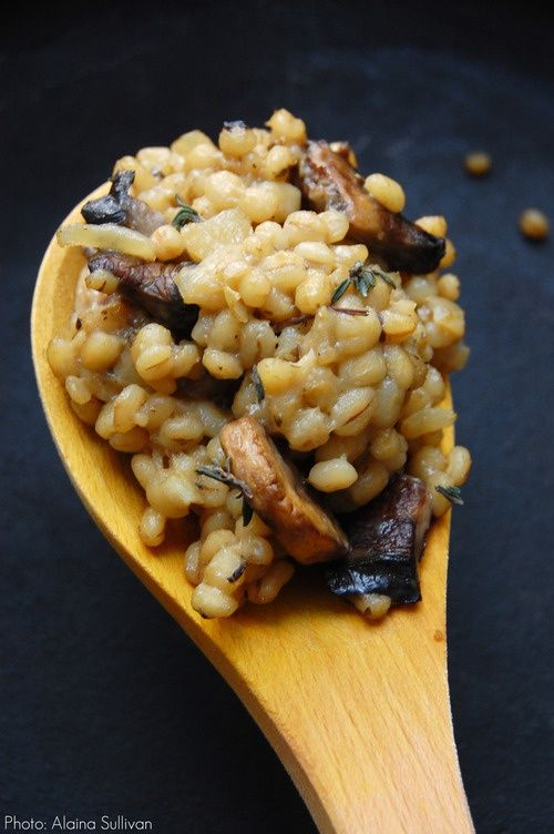 Barley risotto. I have just discovered barley. Everything will now have barley in it.