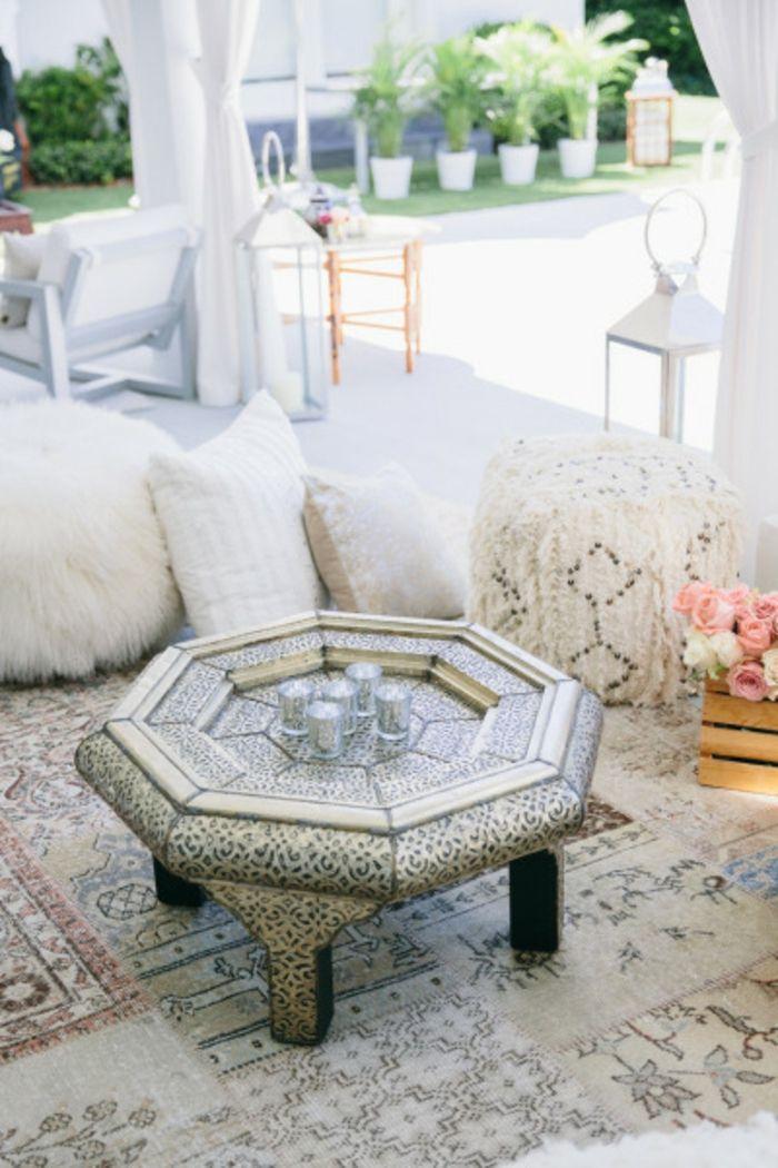 partydeko orientalischer stil teegläser marokkanischer beistelltisch