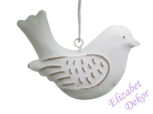 Závěs Ptáček bílý