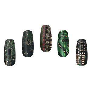 Circuit Board Nail Wraps