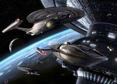 Tapeta Kosmiczne Statki kosmiczne Planety