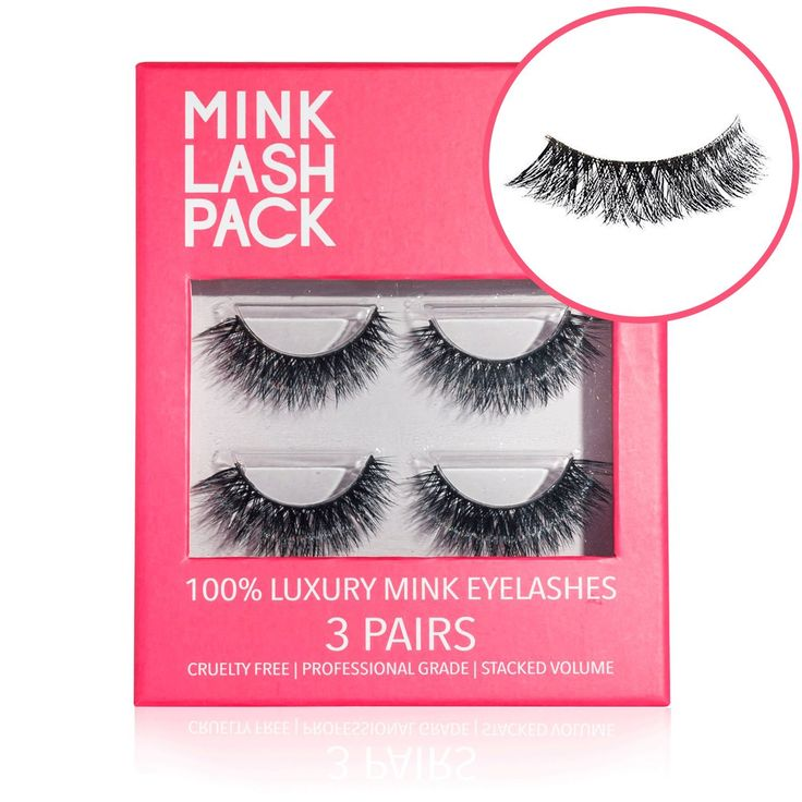 Mink Eyelashes - Best False Eyelashes - Premium Fake Eyelashes - Reusable Velour Lashes - Perfect for Deep Set Eyes & Round Eyes - 3D Lashes Similar to Ardell Lashes - 3 Pairs - Lasts for 3 Months. Each pair of handmade mink lashes can be reused 25 times. One box lasts up to 3 months in daily use. Mink eyelashes are super easy to apply. Look fabulous in 5 minutes or less. Fully replaces mascara! Mascara is known to make lashes dry, brittle and prone to breakage. Mink lashes increase your...