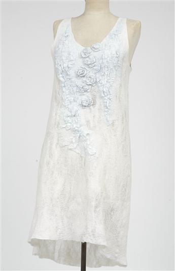 Pam Hovel   Silk & wool nuno felted dress