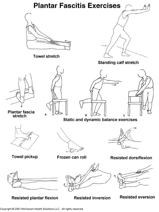 Not really for the home but I sooo NEED this chart. Plantar Fascitis Exercises.