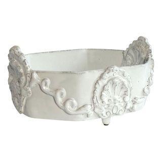 Ornate French White Ceramic Bowl #Chairish