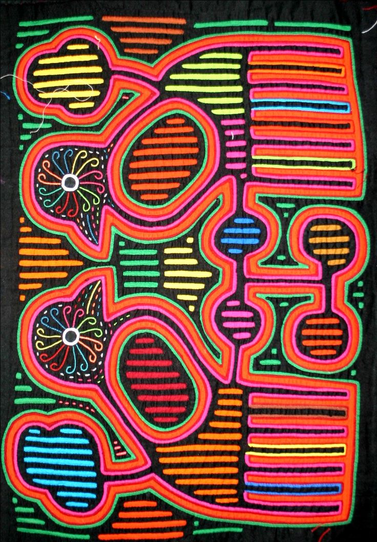 The Kuna people of the San Blas Islands off the coast of Panama preserve their cultures in the bright patterns of Molas.