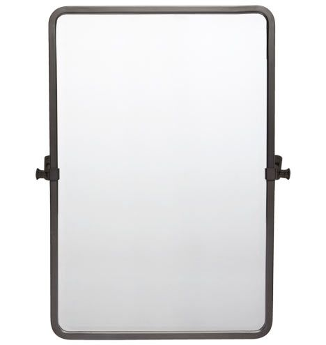 Bingham Pivoting Rounded Rectangle Mirror - Large Oil-Rubbed Bronze C0536