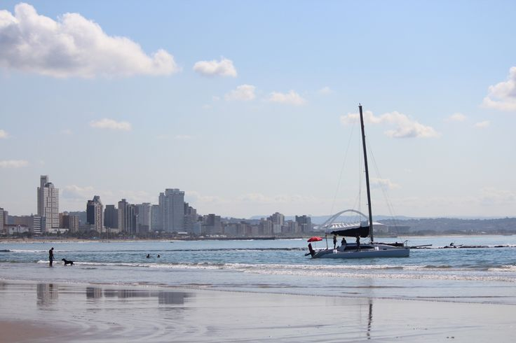 Durban's beachfront is where it 'all happens' - for the most part gentle and warm ocean waters shaded by the 'bluff' and flanked by a seaside promenade, which is always a hive of activity, loads of restaurants and watering holes (for the humans of course), the wonderful theme park of uShaka Marine World - water slides, a massive marine aquarium in the bowels of a shipwreck. Image taken from Vetche's Beach.