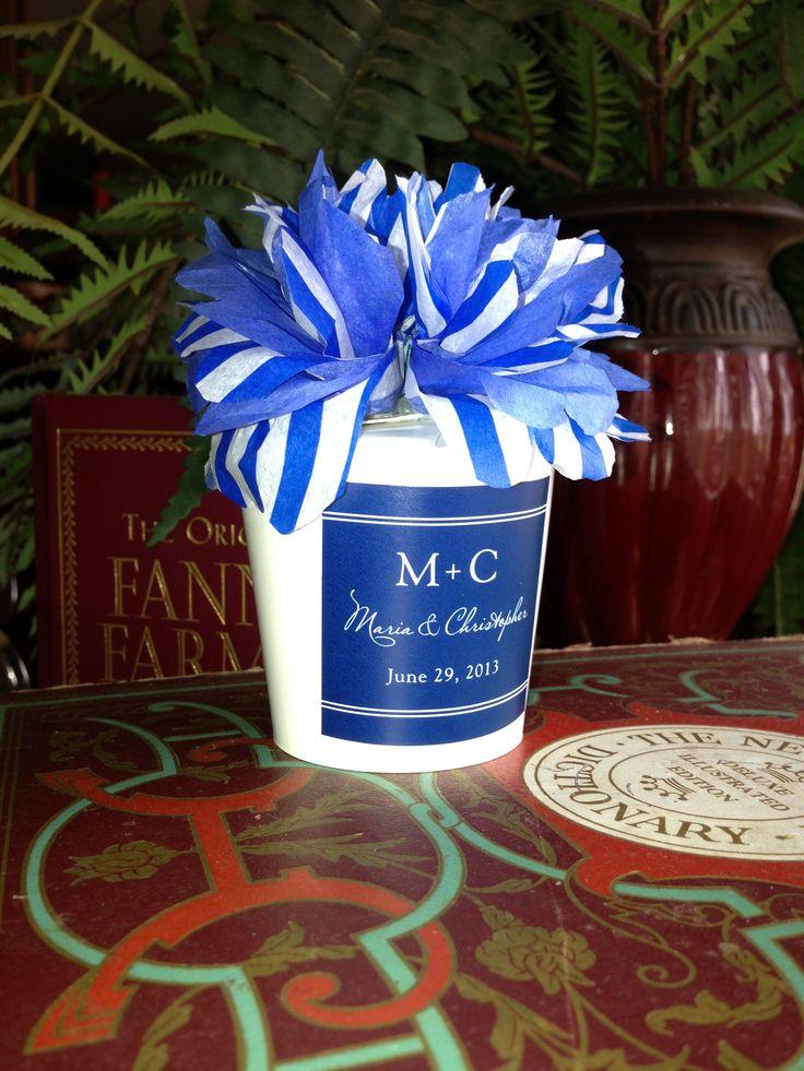 wedding favors ideas do it yourself%0A DIY Wedding favor cup w mints