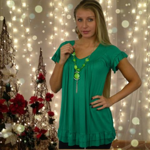 Top with Frill Trim  #skaterdress #fashion #style #shopping #blackfriday #sale #christmas #party