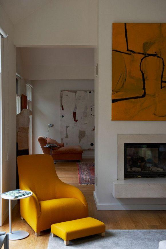 yellow art + chair