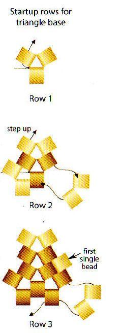 beaded triangle - #seed #bead #tutorial