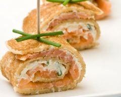 Crêpes au saumon et au Boursin (facile, rapide) - Une recette CuisineAZ