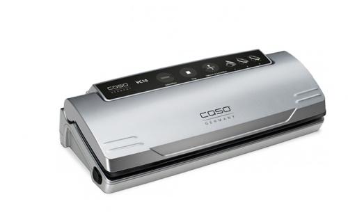Caso Vakum pakker VC10  Den perfekte humlepakke maskinen, fungerer også suverent til alle andre matvarer på kjøkkenet.  Inkludert 10 vakuum poser  Størrelse: 355x90x150mmVekt: 1,3kg110 Watt230V