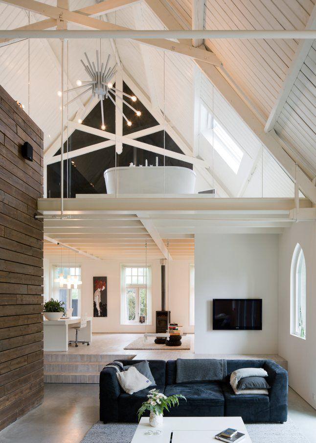 Vide in huis interior pinterest sweet home design and open ceiling - Deco eigentijds design huis ...