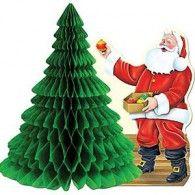 Centrepiece Honeycomb Santa & Tree $10.95 BE22555
