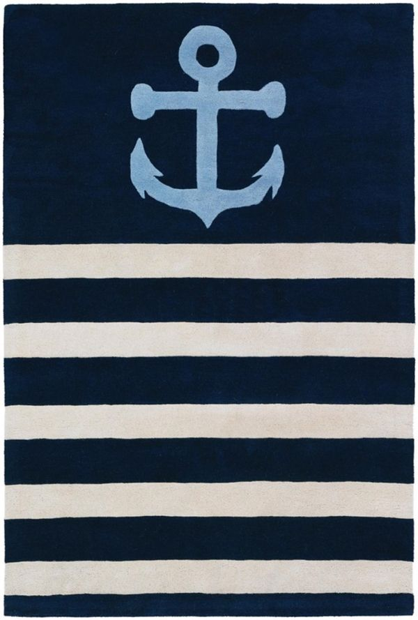 Anchor rug made with high quality wool and the finest construction available.