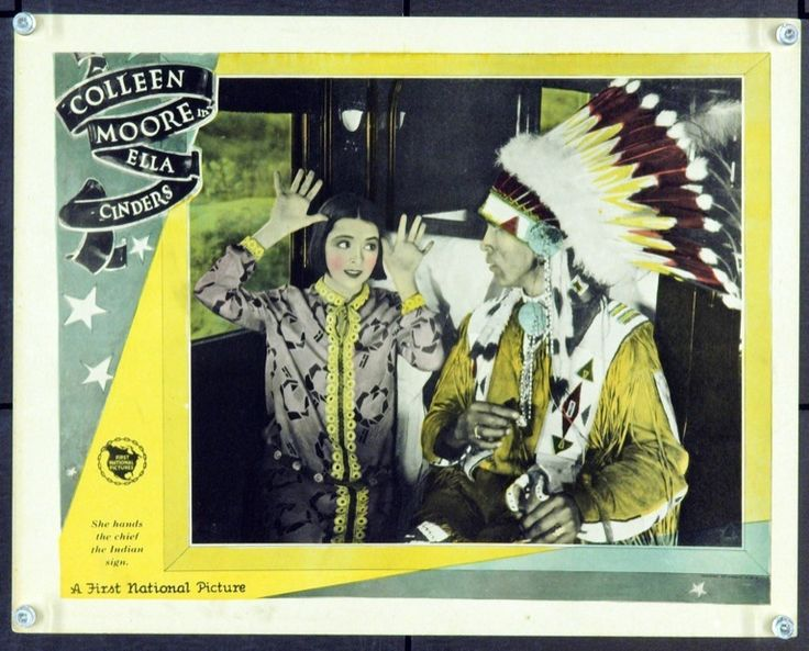 Colleen Moore on the train to Hollywood in Ella Cinders 1926 lobby card