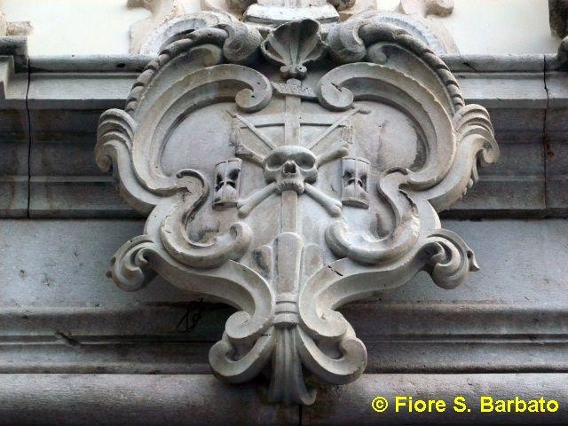 Bagnoli Irpino (AV), Particolare del portale della Chiesa di Santa Margherita.
