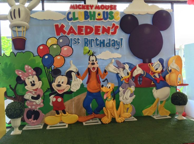 Mickey Mouse Clubhouse Styro Backdrop