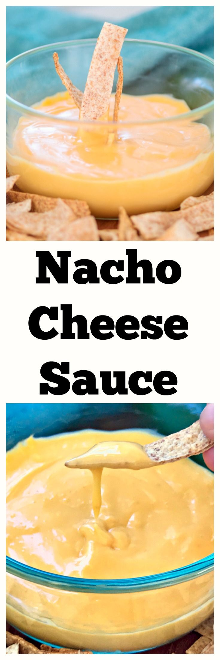 Homemade Nacho Cheese Sauce - No boxed orange goop here! #nachos #realcheese #cheese #queso #appetizer #dip #footballfood