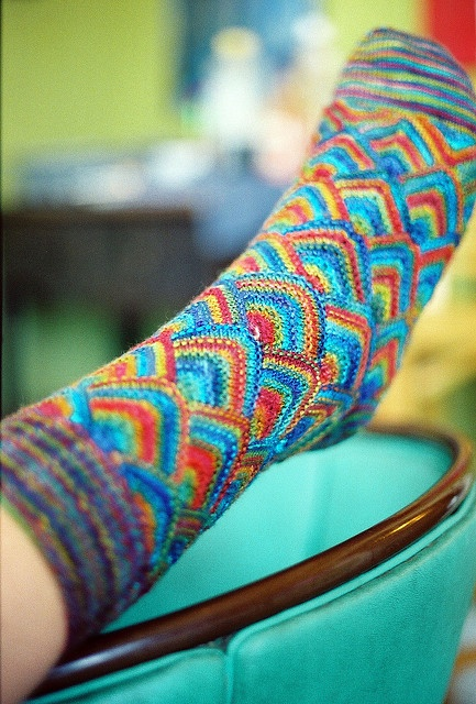 Knitted socks...so WOW