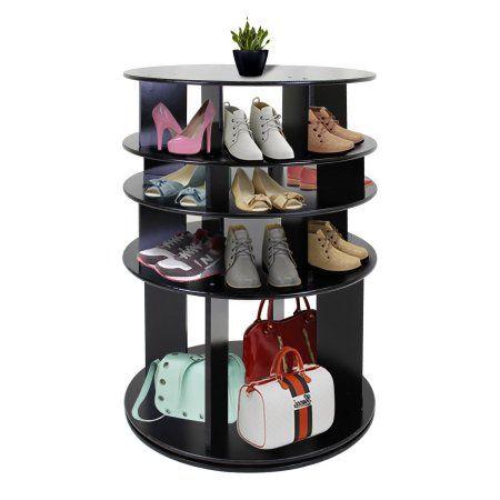 Pin On Organization, Rotating Shoe Storage