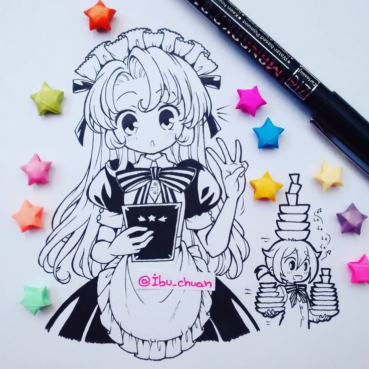 cute chibi template from instagram
