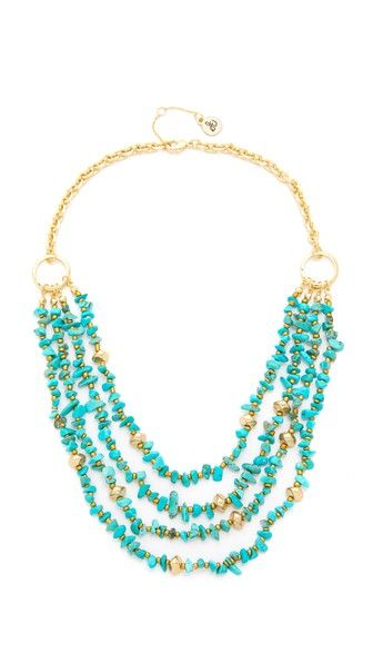 Sam Edelman Layered Nugget Necklace