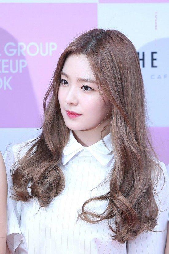 korea korean kpop idol girl band group red velvet irene's wavy hair ash brown curly permed waves hairstyle hairstyles for girls kpopstuff