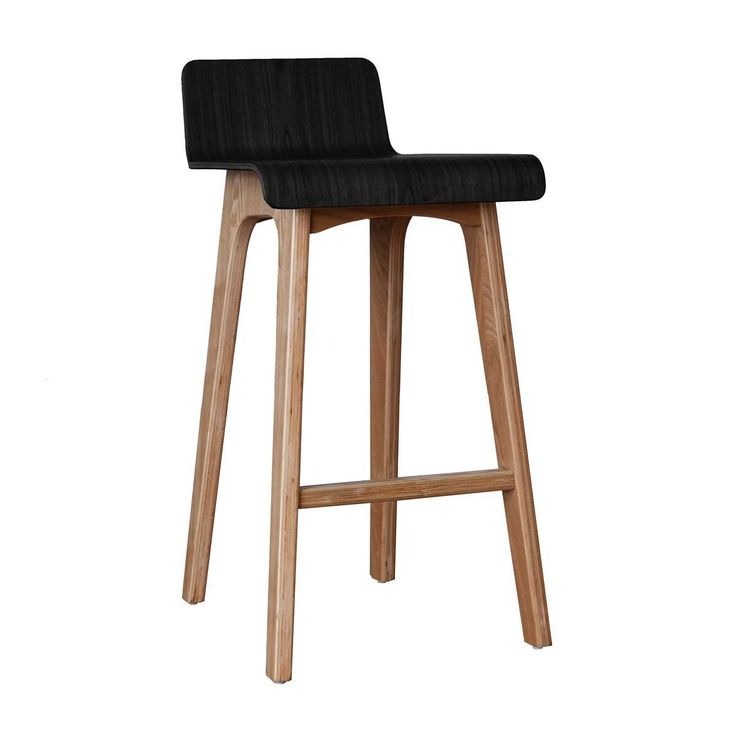 Buy Contemporary Bar Stools Online or Visit Our Showrooms To Get Inspired With The Latest Bar Stools From Life Interiors - Marina Bar Stool (Ash, Black)