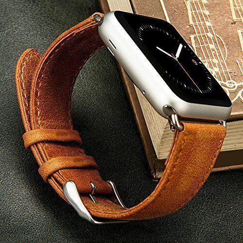 Sale Preis: Jisoncase KLASSISCH Apple Watch 42 mm ECHTLEDER Armband mit hochwertigem Edelstahl Adapter Uhrenarmband in braun JS-AW4-06A20. Gutscheine & Coole Geschenke für Frauen, Männer und Freunde. Kaufen bei http://coolegeschenkideen.de/jisoncase-klassisch-apple-watch-42-mm-echtleder-armband-mit-hochwertigem-edelstahl-adapter-uhrenarmband-in-braun-js-aw4-06a20