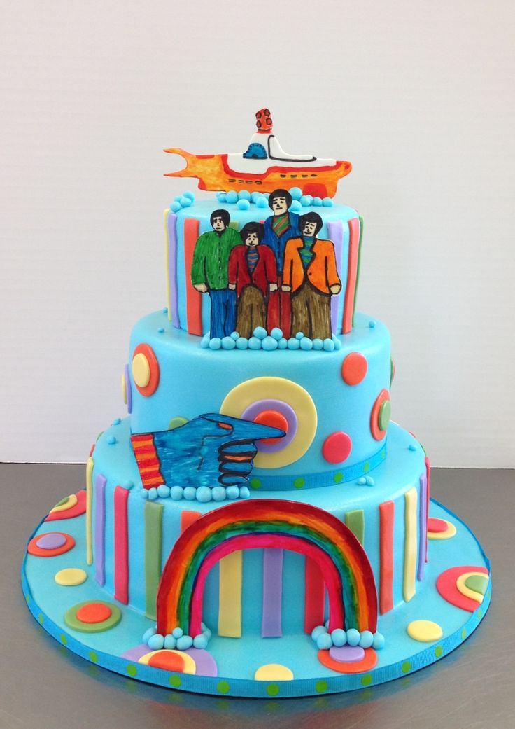 Beatles theme cake