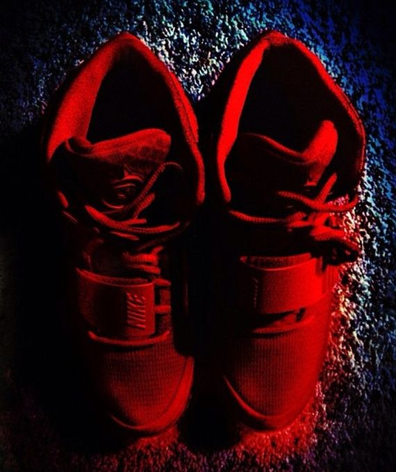"""Nike Air Yeezy 2 – """"Red October"""" Customs 