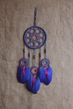 Dream catcher/Large dreamcatcher/Electric by MyHappyDreams on Etsy