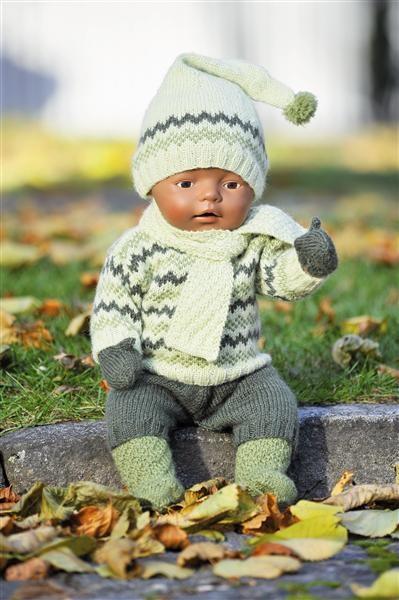 Sandnes Garn. Hefte - 1101 Sisu Barn. Nr 24 Dukkeklær