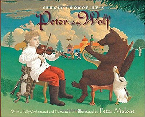 Sergei Prokofiev's Peter and the Wolf: With a Fully-Orchestrated and Narrated CD: Janet Schulman, Sergei Prokofiev, Peter Malone: 9780375824302: Amazon.com: Books