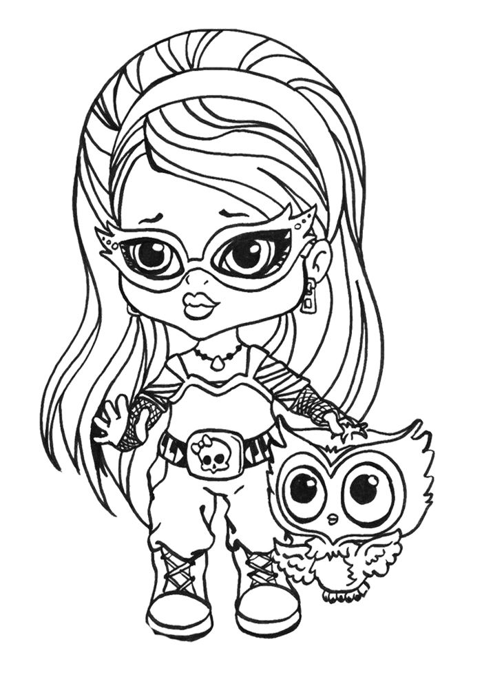 little ghoulia yelps coloring page monster high coloring