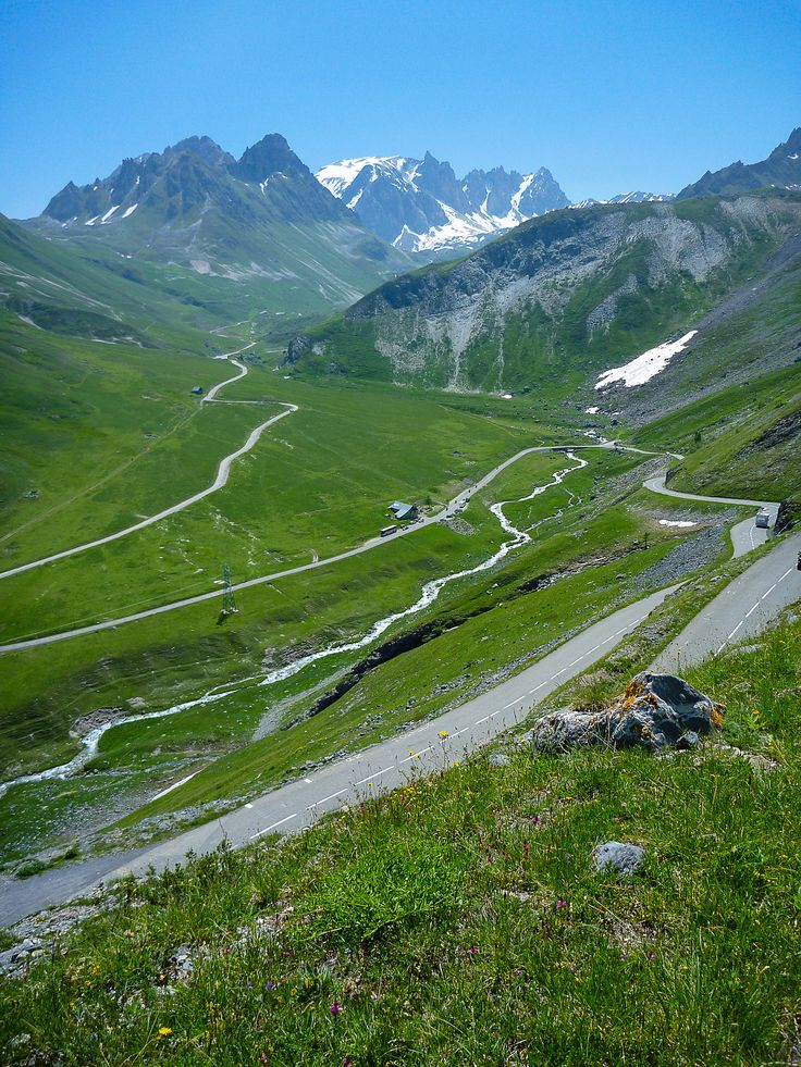 Climbing Col du Galibier during our Alps tour
