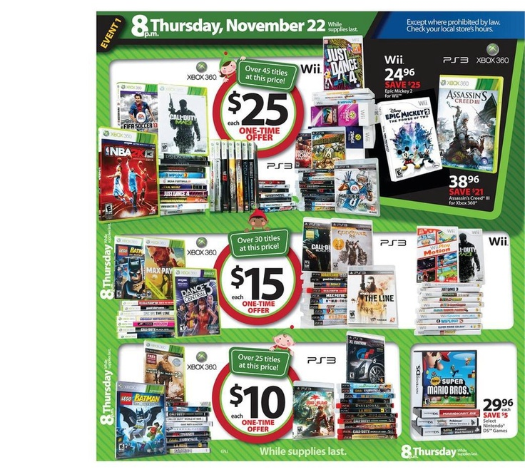 Walmart Black Friday Flyer 2012 Page 6  wii games