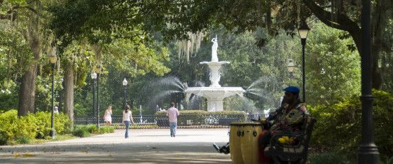Historic Savannah is beguiling and ethereal with its mystical moss-draped oaks shading cobblestone streets. There are 24 squares forming a series of neighborhoods with elegant and eclectic mansions.