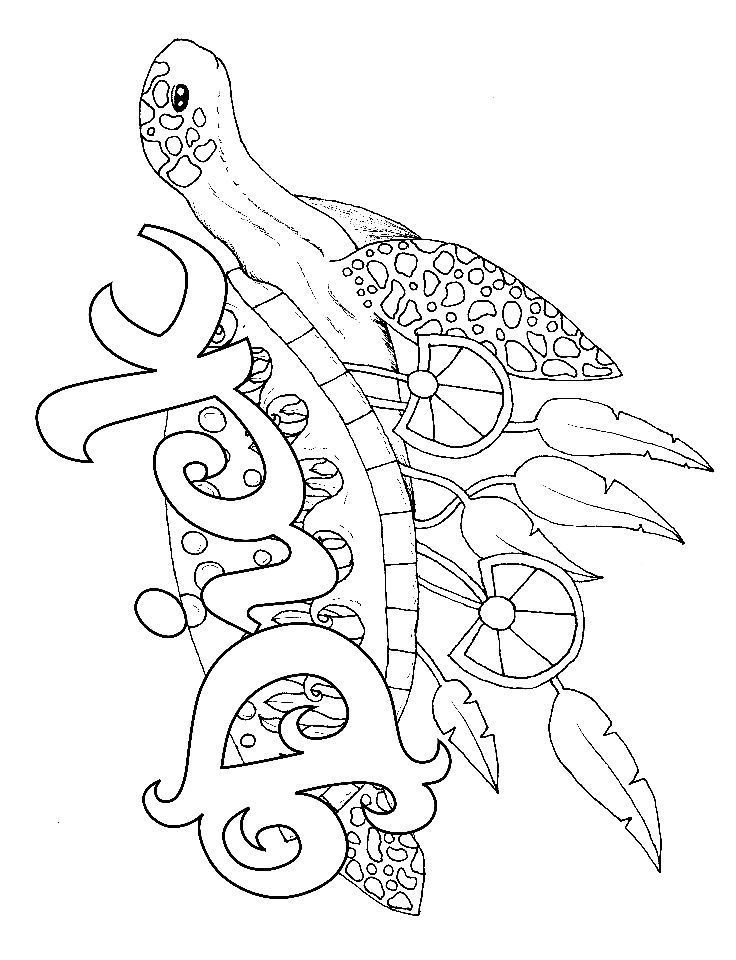 Turtle Adult Coloring Page Swear 14 Free Printable Coloring