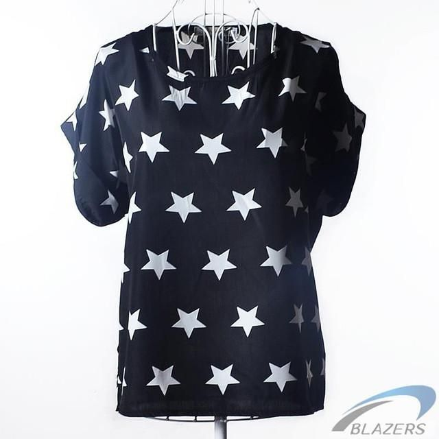 Polka Dot Batwing Shirt Womens