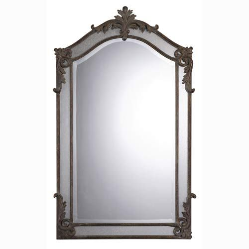 Alvita Medium Mirror Uttermost Arched & Crowned Mirrors Home Decor