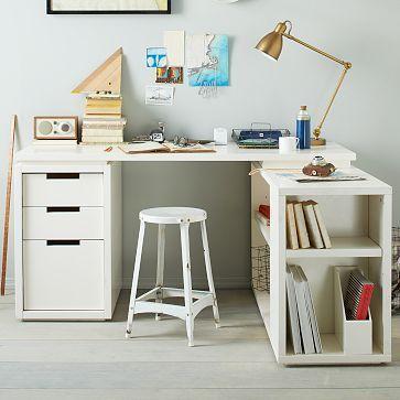 1000 ideas about l shaped desk on pinterest l shape for Bedroom l shaped desks