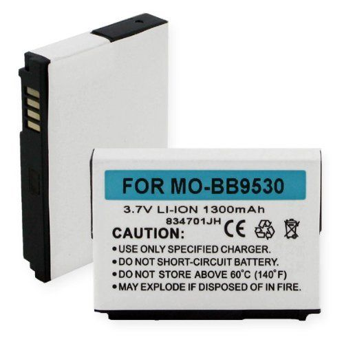 Replacement Battery for Specific Cell Phone Models / Compatible with BLACKBERRY 8900 CURVE, BLACKBERRY 9500, BLACKBERRY 9530